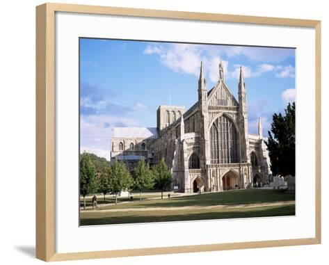 Winchester Cathedral, Winchester, Hampshire, England, United Kingdom-Roy Rainford-Framed Art Print