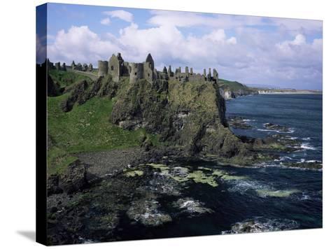 Dunluce Castle, County Antrim, Northern Ireland, United Kingdom-Roy Rainford-Stretched Canvas Print