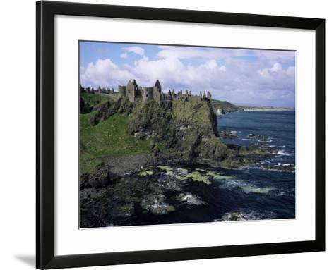 Dunluce Castle, County Antrim, Northern Ireland, United Kingdom-Roy Rainford-Framed Art Print