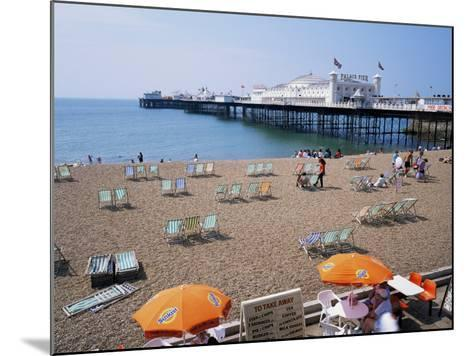 The Palace Pier and Beach, Brighton, Sussex, England, United Kingdom-Roy Rainford-Mounted Photographic Print