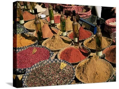 Herbs and Spices, Aix En Provence, Bouches Du Rhone, Provence, France-Roy Rainford-Stretched Canvas Print