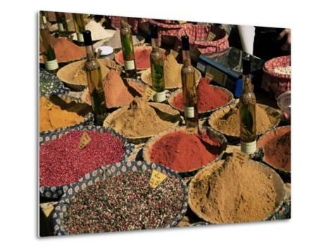 Herbs and Spices, Aix En Provence, Bouches Du Rhone, Provence, France-Roy Rainford-Metal Print
