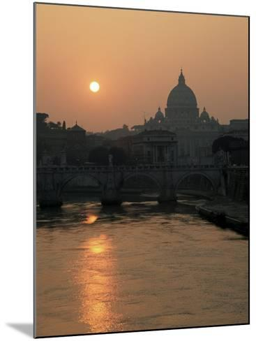 River Tiber and the Vatican, Rome, Lazio, Italy-Roy Rainford-Mounted Photographic Print