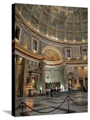 Interior of the Pantheon, Rome, Lazio, Italy-Roy Rainford-Stretched Canvas Print