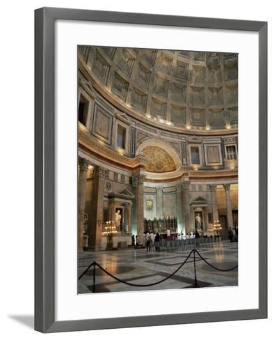 Interior of the Pantheon, Rome, Lazio, Italy-Roy Rainford-Framed Art Print