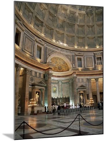 Interior of the Pantheon, Rome, Lazio, Italy-Roy Rainford-Mounted Photographic Print