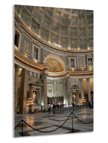 Interior of the Pantheon, Rome, Lazio, Italy-Roy Rainford-Metal Print