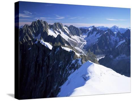 Mont Blanc Range Near Chamonix, Haute-Savoie, French Alps, France-Roy Rainford-Stretched Canvas Print