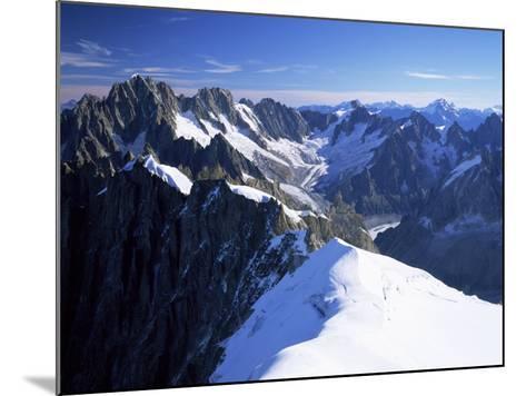 Mont Blanc Range Near Chamonix, Haute-Savoie, French Alps, France-Roy Rainford-Mounted Photographic Print