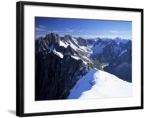 Mont Blanc Range Near Chamonix, Haute-Savoie, French Alps, France-Roy Rainford-Framed Art Print