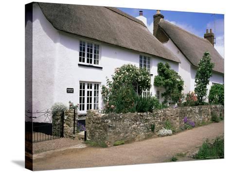 Thatched Cottages, Otterton, South Devon, England, United Kingdom-Roy Rainford-Stretched Canvas Print
