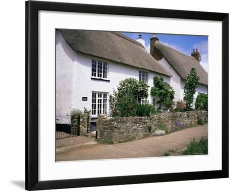Thatched Cottages, Otterton, South Devon, England, United Kingdom-Roy Rainford-Framed Art Print