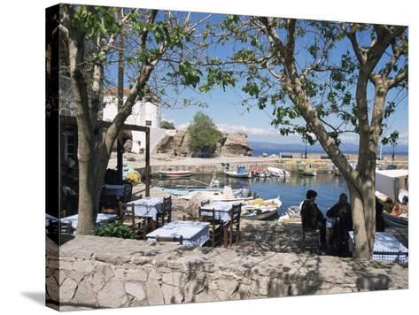 Skala Sikimmia Harbour, Lesbos, Greece-Roy Rainford-Stretched Canvas Print