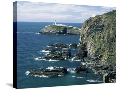 South Stack Lighthouse, Isle of Anglesey, Wales, United Kingdom-Roy Rainford-Stretched Canvas Print