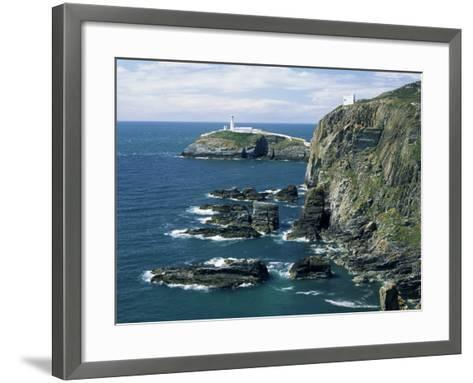 South Stack Lighthouse, Isle of Anglesey, Wales, United Kingdom-Roy Rainford-Framed Art Print