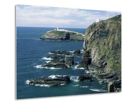 South Stack Lighthouse, Isle of Anglesey, Wales, United Kingdom-Roy Rainford-Metal Print
