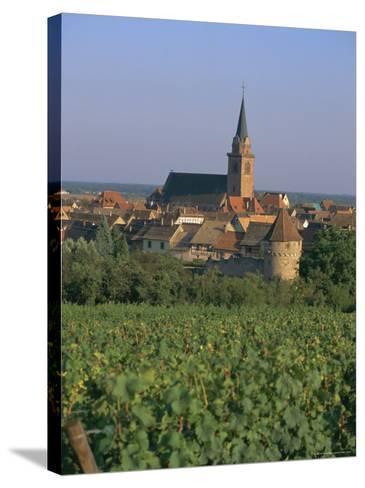 Bergheim and Vineyards, Alsace, France-John Miller-Stretched Canvas Print