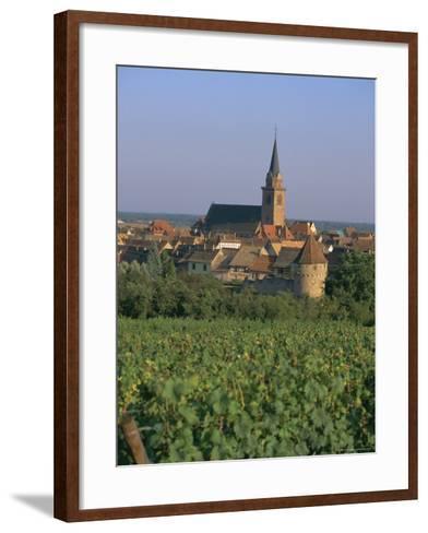 Bergheim and Vineyards, Alsace, France-John Miller-Framed Art Print