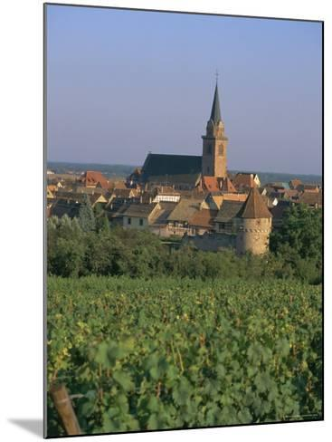 Bergheim and Vineyards, Alsace, France-John Miller-Mounted Photographic Print