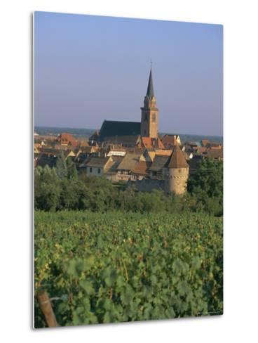 Bergheim and Vineyards, Alsace, France-John Miller-Metal Print