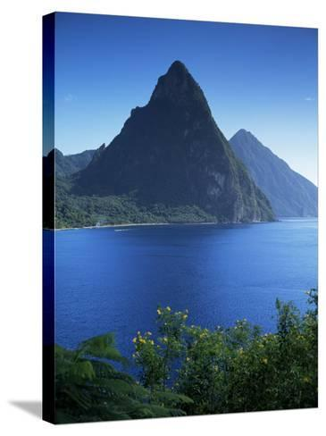 The Pitons, St. Lucia, Windward Islands, West Indies, Caribbean, Central America-John Miller-Stretched Canvas Print