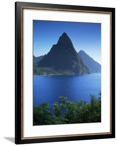 The Pitons, St. Lucia, Windward Islands, West Indies, Caribbean, Central America-John Miller-Framed Art Print