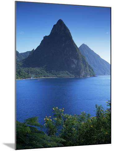 The Pitons, St. Lucia, Windward Islands, West Indies, Caribbean, Central America-John Miller-Mounted Photographic Print