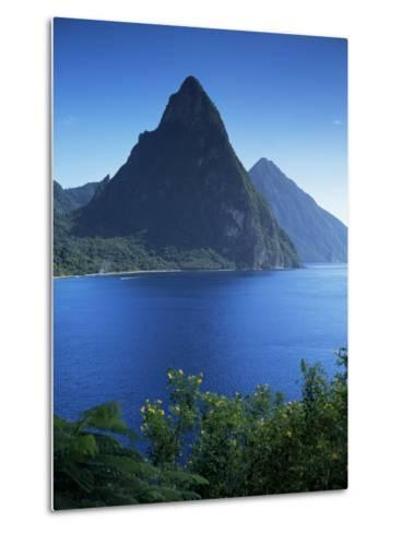 The Pitons, St. Lucia, Windward Islands, West Indies, Caribbean, Central America-John Miller-Metal Print