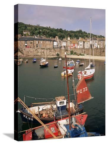 Mousehole Harbour, Cornwall, England, United Kingdom-John Miller-Stretched Canvas Print