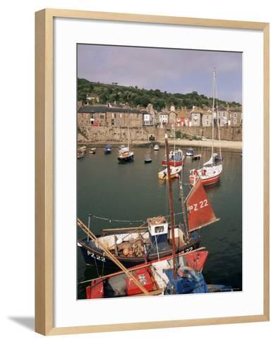 Mousehole Harbour, Cornwall, England, United Kingdom-John Miller-Framed Art Print