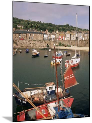 Mousehole Harbour, Cornwall, England, United Kingdom-John Miller-Mounted Photographic Print