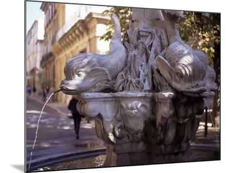 Fountain of Four Dolphins, Aix En Provence, Bouches Du Rhone, Provence, France-John Miller-Mounted Photographic Print