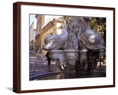 Fountain of Four Dolphins, Aix En Provence, Bouches Du Rhone, Provence, France-John Miller-Framed Art Print