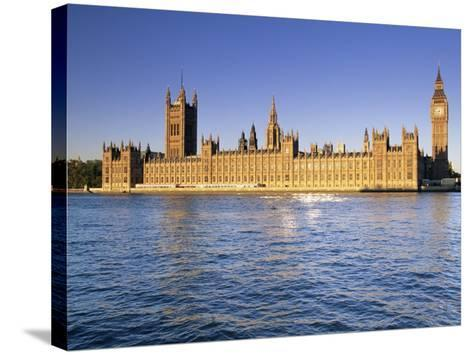 The Houses of Parliament (Palace of Westminster), Unesco World Heritage Site, London, England-John Miller-Stretched Canvas Print