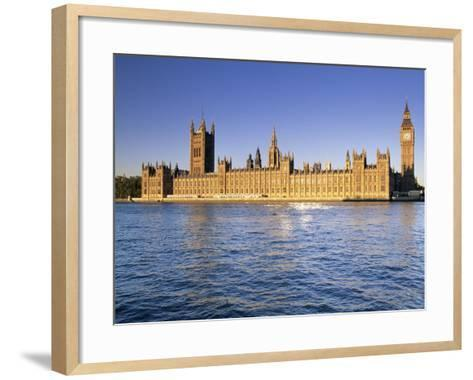 The Houses of Parliament (Palace of Westminster), Unesco World Heritage Site, London, England-John Miller-Framed Art Print