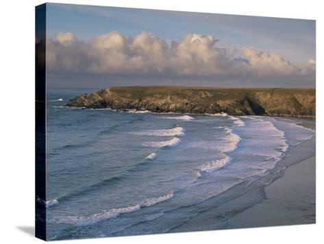 Holywell Bay, Near Newquay, Cornwall, England, United Kingdom-John Miller-Stretched Canvas Print