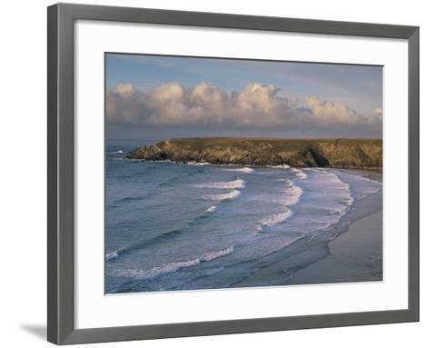 Holywell Bay, Near Newquay, Cornwall, England, United Kingdom-John Miller-Framed Art Print