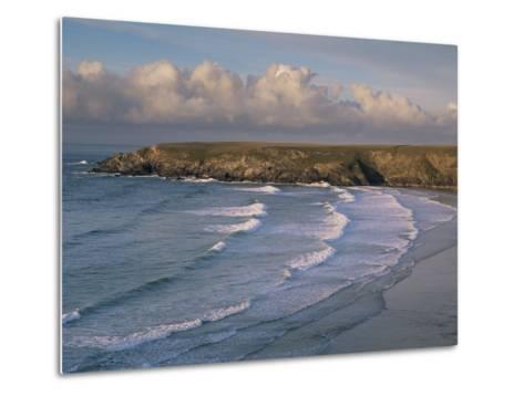 Holywell Bay, Near Newquay, Cornwall, England, United Kingdom-John Miller-Metal Print