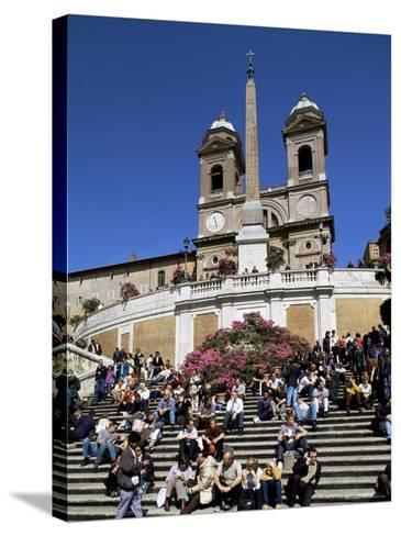 Spanish Steps, Rome, Lazio, Italy-John Miller-Stretched Canvas Print