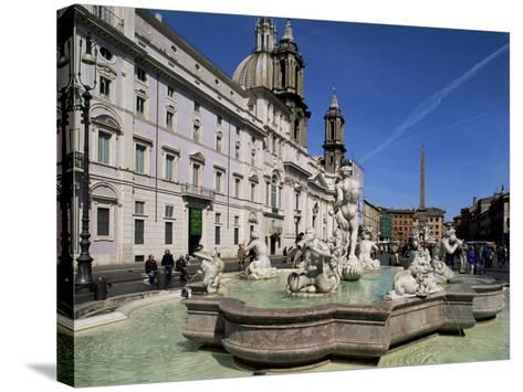 Piazza Navona, Rome, Lazio, Italy-John Miller-Stretched Canvas Print