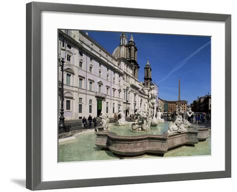 Piazza Navona, Rome, Lazio, Italy-John Miller-Framed Art Print