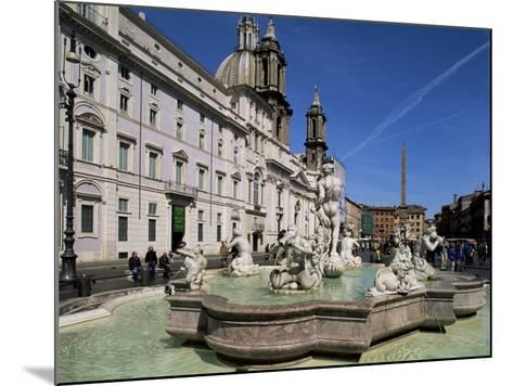 Piazza Navona, Rome, Lazio, Italy-John Miller-Mounted Photographic Print