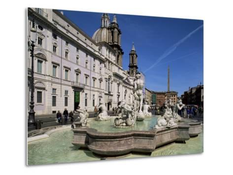 Piazza Navona, Rome, Lazio, Italy-John Miller-Metal Print