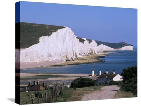 The Seven Sisters, East Sussex, England, United Kingdom-John Miller-Stretched Canvas Print