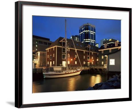 Old Port at Dusk, Halifax, Nova Scotia, Canada-Eitan Simanor-Framed Art Print