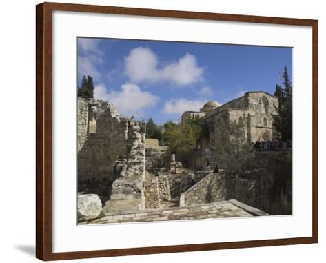 Bethesda Pool with St. Anne Church in the Background, Old City, Jerusalem, Israel, Middle East-Eitan Simanor-Framed Art Print