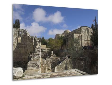 Bethesda Pool with St. Anne Church in the Background, Old City, Jerusalem, Israel, Middle East-Eitan Simanor-Metal Print