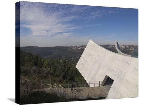 Exit Towards the Jerusalem Hills, New Wing of the Holocaust Museum, Yad Vashem, Jerusalem-Eitan Simanor-Stretched Canvas Print