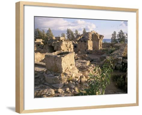 Byzantine Castle Dating from 7th Century, Ruined by Earthquake in 1222, Paphos, Cyprus-Michael Short-Framed Art Print