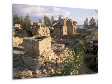 Byzantine Castle Dating from 7th Century, Ruined by Earthquake in 1222, Paphos, Cyprus-Michael Short-Metal Print